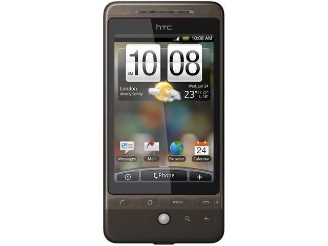 obsah balení HTC Hero černá + autonabíječka miniUSB