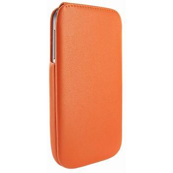 Piel Frama pouzdro pro Samsung Galaxy S4 iMagnum, Orange