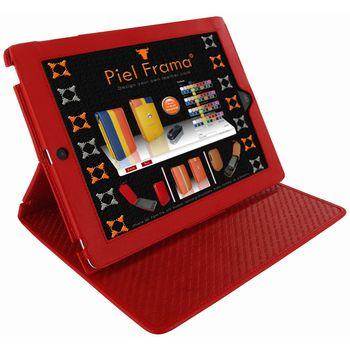 Piel Frama pouzdro pro iPad 4 Cinema, Red