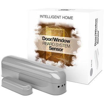 Fibaro bateriový Senzor (magnetický kontakt) na okna a dveře, stříbrný