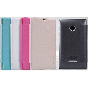 Nillkin pouzdro Sparkle Folio pro Nokia X, růžové