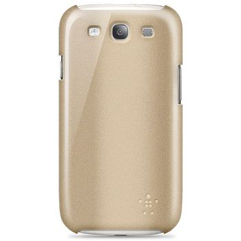 Belkin plastové pouzdro SnapShield Glint pro Samsung Galaxy S III, zlaté (F8M404cwC01)