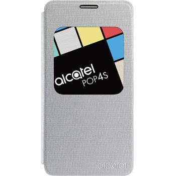 ALCATEL pouzdro AF5095 Aero FlipCase POP 4S, stříbrné