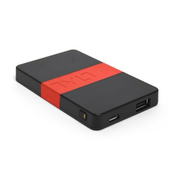 Tylt záložní baterie 2000 mAh energi 2K s USB portem, černo-červená
