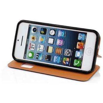 Brando pouzdro Flip View pro iPhone 5C, černá syntetická kůže