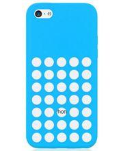Brando zadní kryt Hole Silicone pro iPhone 5C, modrá