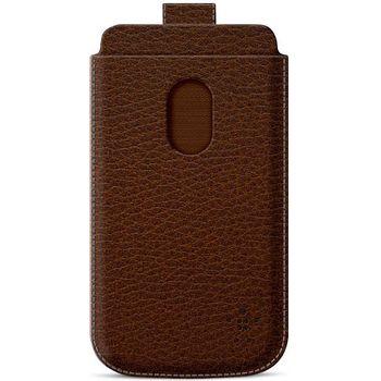 Belkin Pocket Case zasouvací pouzdro pro Samsung Galaxy S III PU kůže, hnědé (F8M410cwC01)