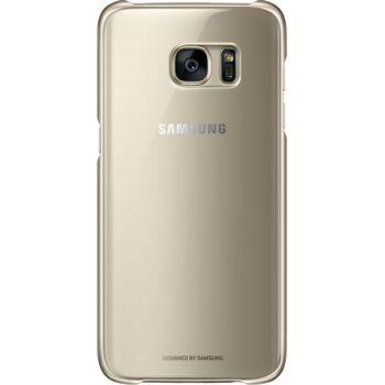 Samsung ochranný zadní kryt EF-QG935CF pro Galaxy S7 edge, zlatý