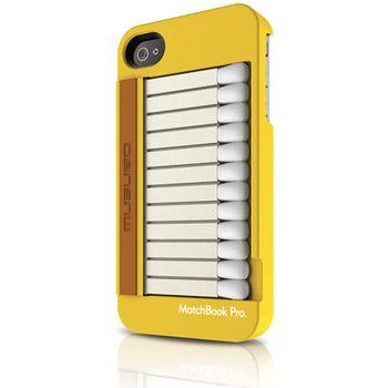 Musubo pouzdro MatchBook pro Apple iPhone 4/4S - žluté
