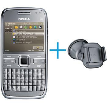 Nokia E72 Metal Grey 4GB + Držák do auta CR-115
