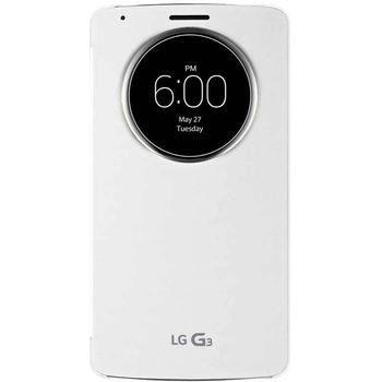 LG flipové pouzdro QuickCircle CCF-345G pro LG G3, bílá