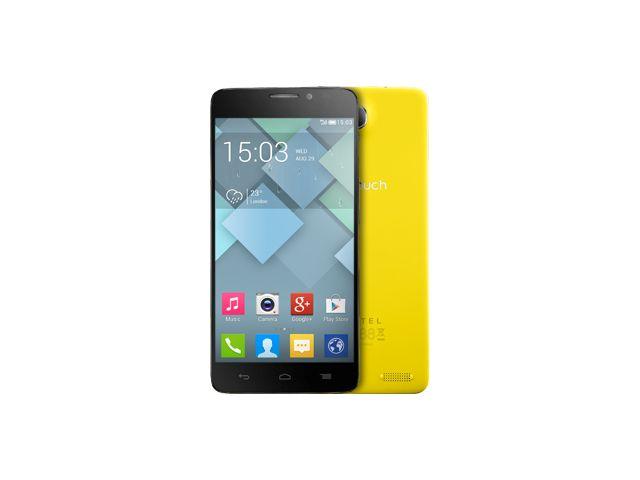 obsah balení Alcatel One Touch Idol X žlutá
