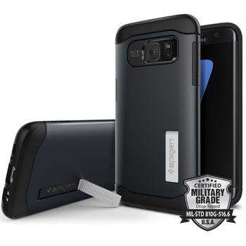Spigen pouzdro Slim Armor pro Galaxy S7 edge, kovově modré