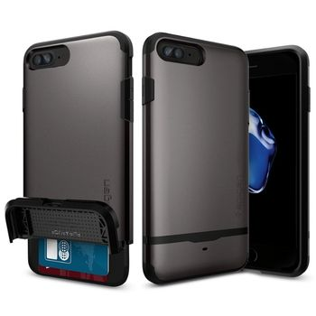 Spigen ochranný kryt Flip Armor pro iPhone 7 plus, kovově šedá