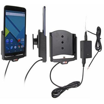 Brodit držák do auta na Motorola Nexus 6 bez pouzdra, se skrytým nabíjením