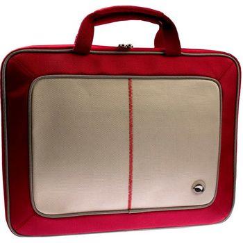 "Krusell Radical Laptop Slim taška na notebook - do 16"" - červená/slonovina"