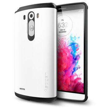 Spigen pevné pouzdro Slim Armor Shimmery white pro LG G3, bílá
