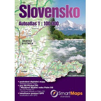 SmartMaps Locator: Autoatlas SR 1:100.000 + Bratislava 1:15.000 (Win Mobile/Win CE/Symbian/Android)
