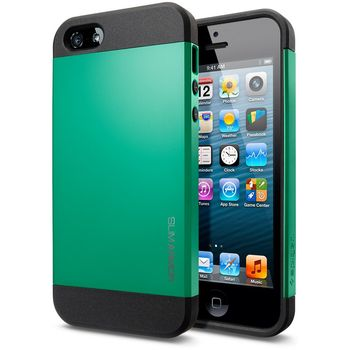 Spigen iPhone 5 Slim Armor ochranné pouzdro zelené