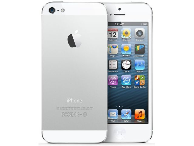 obsah balení iPhone 5 16GB bílý + Cookoo watch černo-stříbrné