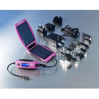 Solární outdoorová záložní nabíječka Powermonkey-eXplorer: panely + powerbank 2200mAh (růžová)