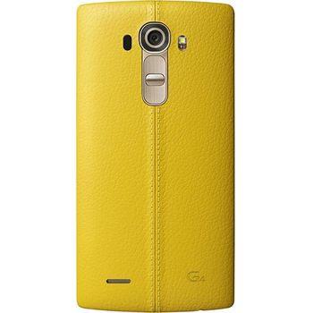 LG kožený zadní  kryt CPR-110 pro LG G4, žlutý