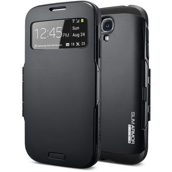 Spigen flipové pouzdro Slim Armor view pro Galaxy S4, černé