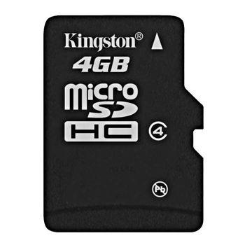 Kingston microSDHC 4GB Class 4 paměťová karta