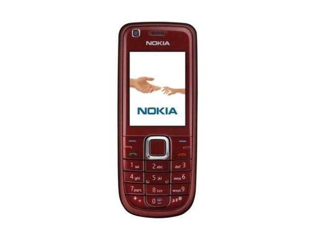 obsah balení NOKIA 3120 Red + pasivní držák Brodit