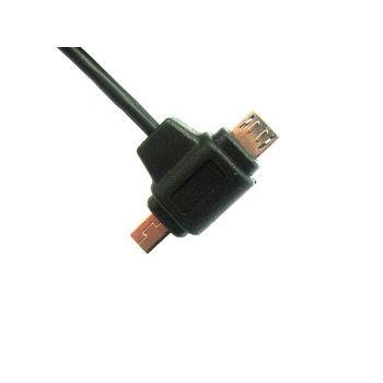 Synchronizační a dobíjecí USB kabel - miniUSB + microUSB