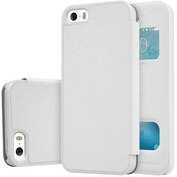 Nillkin flipové pouzdro Sparkle S-View pro iPhone 5/5S/SE, bílé