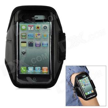 """Sportovní pouzdro na ruku pro telefony s displejem do 4""""- černé"""