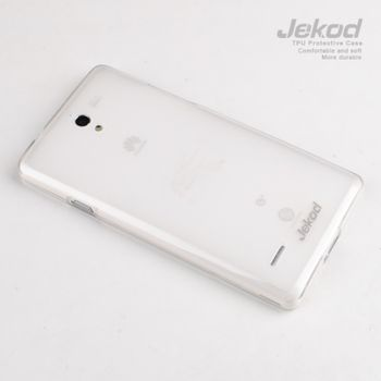 Jekod TPU silikonový kryt Huawei Ascend G700, bílá