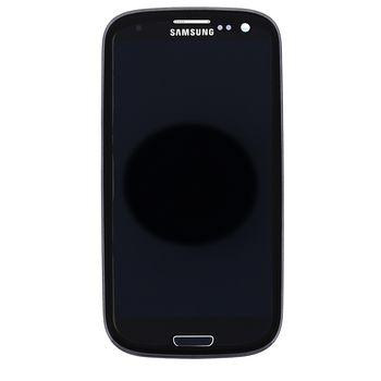 Náhradní díl LCD displej s dotykovou vrstvou+ přední kryt pro Samsung i9301 Galaxy S III Neo, černá