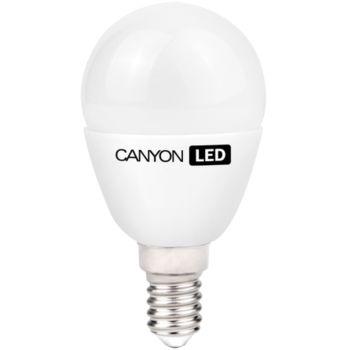Canyon LED žárovka, závit E14, kompakt kulatá, mléčná 3.3W, 250 lm, teplá bílá 2700K