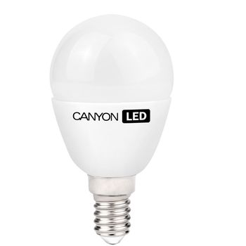 Canyon LED žárovka, (ekv. 40W) E14, kompakt kulatá, mléčná, 6W, 470 lm, neutrální bílá 4000K