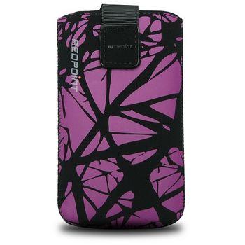 Fixed pouzdro Velvet s motivem Purple Cracks, velikost XXL, fialová