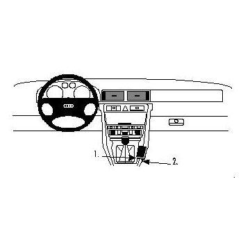 Brodit ProClip montážní konzole pro Audi A6/S6 98-03, na středový tunel