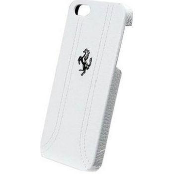 Ferrari zadní kožený kryt pro iPhone 5, bílý