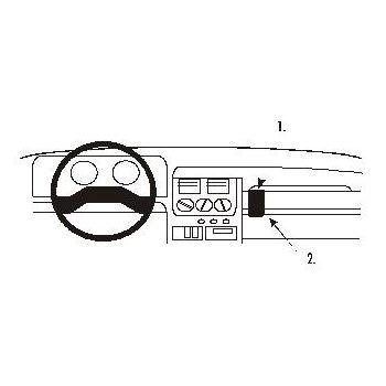 Brodit ProClip montážní konzole pro Peugeot 205 88-98 For Europe, na střed