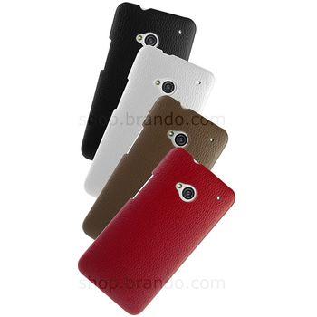 Pouzdro kožené Brando Flip Top pro HTC One, bílé