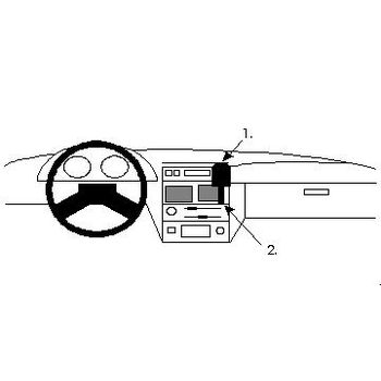 Brodit ProClip montážní konzole pro Citroen AX 92-97, na střed