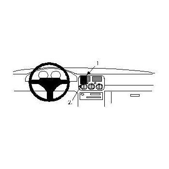 Brodit ProClip montážní konzole pro Subaru Impreza 94-97, na střed