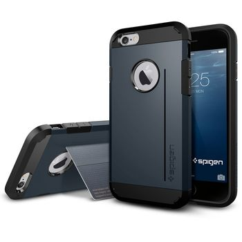 Spigen pouzdro Tough Armor S pro iPhone 6, kovově modrá