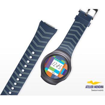 Samsung výměnný pásek ET-SRR72MN pro Gear S2, šedo modrý