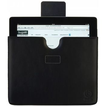 Bugatti Basic leather case Apple iPad & iPad 2 & nový iPad - černé