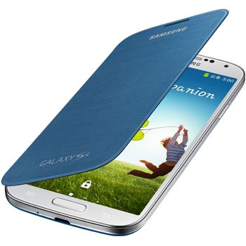 Samsung flipové pouzdro EF-FI950BL pro Galaxy S4 (i9505), tmavě modrá, rozbaleno