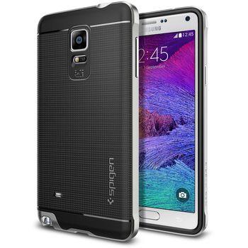 Spigen pouzdro Neo Hybrid pro Samsung Galaxy Note 4, stříbrná