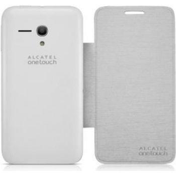 ALCATEL ONETOUCH 5038D POP D5 Flip pouzdro, stříbrné