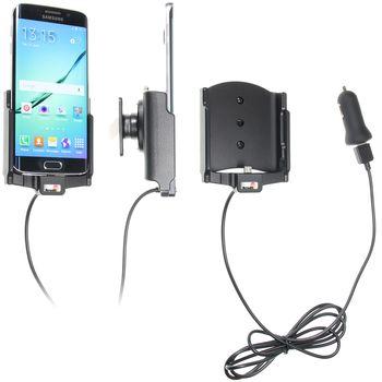 Brodit držák do auta na Samsung Galaxy S6 Edge bez pouzdra, s nabíjením z cig. zapalovače/USB